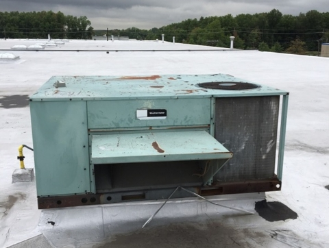 Direct replacement of commercial unit Carteret NJ new unit - Before