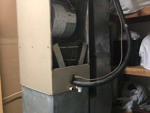 Direct replacement of the furnace in Manalapan NJ - Before