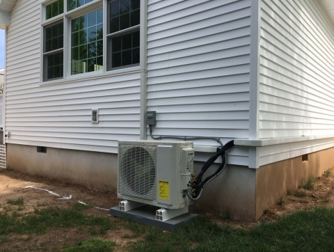 Outdoor unit for mini split system new installation Scotch Plains